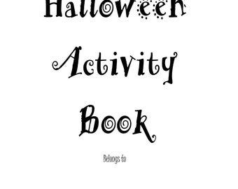 Halloween Activity Book, Halloween Party Games, Kids Puzzle Book, Childrens Maze Book, Quiet Book, Kids Halloween, Kids Download, Game Book