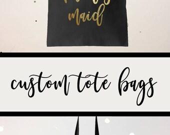 Bridesmaid Tote, Personalized Tote, Bridesmaid Tote Bag, Bridesmaid Bag, Wedding Tote, Tote Bag, Bridesmaid Totes, Bridal Tote, Monogram