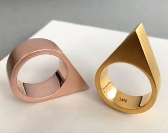 Goldring matt  Matt gold ring | Etsy