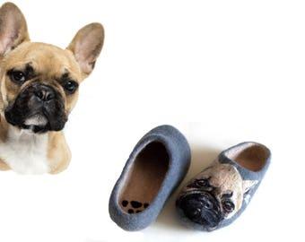 Personalized wedding gift dog lover Custom pet wedding portrait Original dog art for couple Felt slippers Pet lover gifts