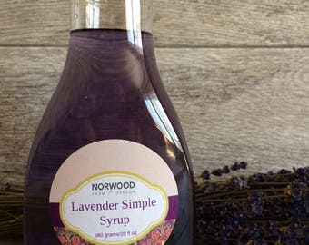 Lavender Simple Syrup, syrup, lavender syrup