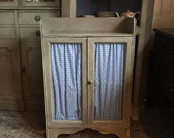 Vintage Grey French Style Country Farmhouse Chicken Wire Cabinet FREE DELIVERY Hand Painted  Handmade