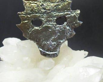 Titanium Druzy Demon Mask Pendant.