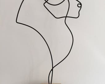 astrological sign of Leo, wire sculpture