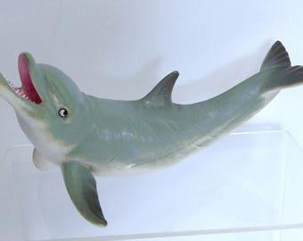 Flipper Dolphin Model, Vintage AAA Model, Solid Teaching Ocean Animal Model, Retired Model Like Schleich Ocean Diorama Animal, Large Model