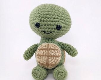 PATTERN: Tommy the Turtle - Crochet turtle pattern - amigurumi turtle - crocheted turtle pattern - PDF crochet pattern
