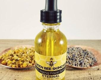 Anti-Aging Face Serum - ETERNAL - Moisturizing Hydrating Oil - Calendula Lavender Chamomile Carrot Seed Sunflower Jojoba - Natural Skincare