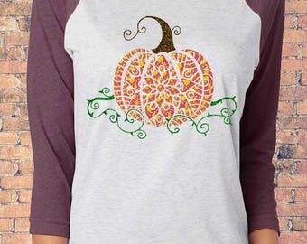 Patterned Pumpkin Women's Shirt