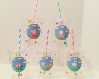 Peppa Pig Themed Party Cups