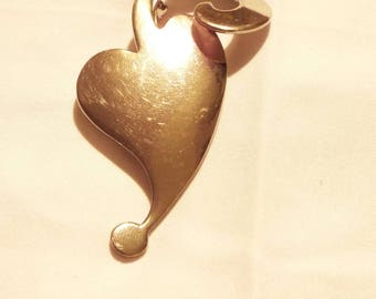 Sliver Heart Broach