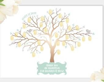 Teacher finger print tree, teacher gift, thank you teacher, thank you, teacher tree, gift for teacher, teacher retirement, gifts from class