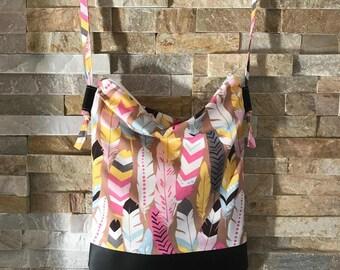 Bag shoulder strap shoulder adjustable Vegan all round light Base hand bag use summer - feathers