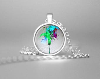 GIFTS FOR ARTIST Paintbrush Necklace Green Gift for Artists Art Teacher Gifts Artist Jewelry Artist Jewellery Artists Gifts Gift for Artists