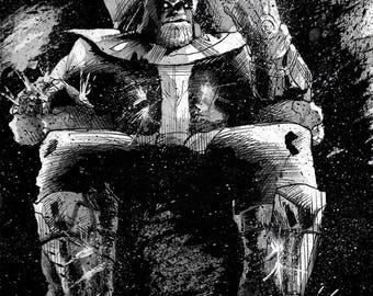 Thanos Ink Illustration