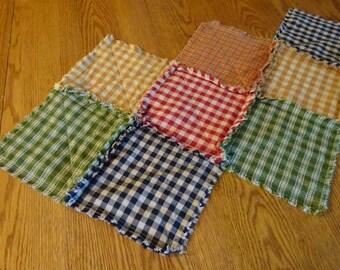 Country Table Runner, Quilt Table Runner, Rag Quilt Table Runner, Center Piece, Table Runner, Rag Table Runner, Patchwork Table Runner