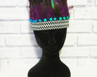 feather headdress, feathers headdress 3 available colours to choose from