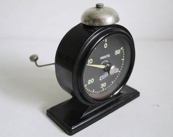 Dark Room Timer Photo Timer Soviet vintage Photographers Darkroom Timer Mechanical Clock Photography 1950s USSR.