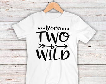 Born To Be Wild Parody Funny Children's Bodysuit Creeper T-Shirt for Baby Boy Girl Unisex Toddler Kid 2nd Gift Idea Present Birthday Humor