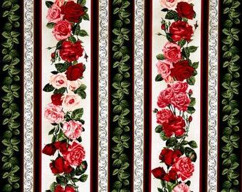 Rose Garden Striped / custom fabric