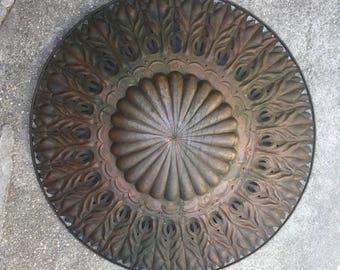 "Monumental Egidio CASAGRANDE Wall Art Sculpture Hammered Copper ITALY 38 1/2"""