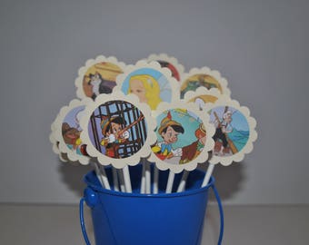 Pinocchio Cupcake Toppers / 12 Count