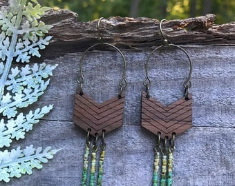 Wooden Earrings - Boho Beads