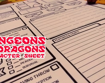 Dungeons & Dragons 5th Edition - Character Sheet