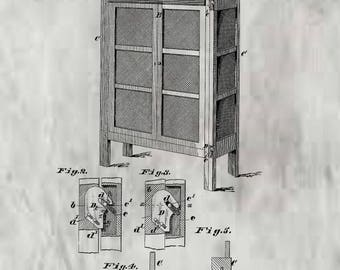 Kitchen Safe Patent #254449 dated March 7, 1882.