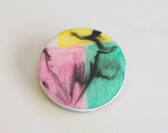 Handmade Resin Brooch - Necklace | Contemporary Wearable Art