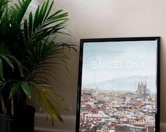 Barcelona, Spain Poster 11x17 18x24 24x36