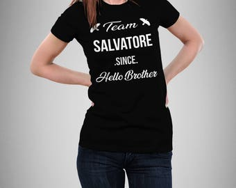 Vampire Diaries Shirt, Gift, Elena Gilbert, Damon Salvatore, Stefan Salvatore, Tvd, Mystic Falls, Ian Somerhalder, Nina Dobrev, Salvatore 17