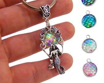 Mermaid keychain, personalized gift, mermaid gift, mermaid party favors, mermaid car accessories, car accessory, mermaid scales, mermaids