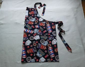For him an apron printed & casino theme