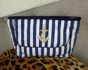 Small toiletry bag travel nautical style