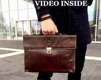 Mens leather briefcase, leather laptop bag, leather messenger, womens leather bag, business bag, work Bag men – Moonheart