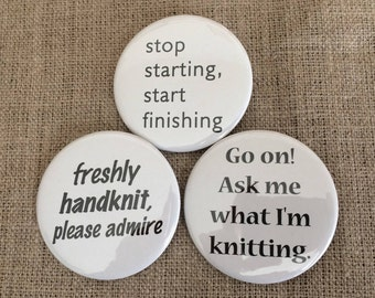 buttons for knitters