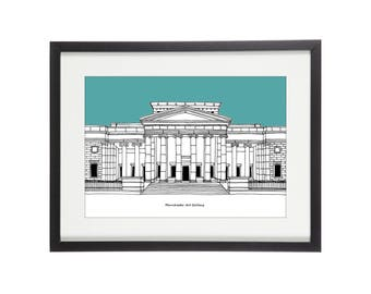 Manchester Art Gallery | Manchester Print | Manchester Illustration | City Prints | Architectural Print | Architectural Drawing