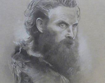 Original Art drawing, Game of Thrones art, Game of thrones drawing, Tormund Giantsbane, Retrato original de Tormund Matagigantes