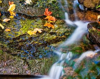 Adirondack Mountain Print, Nature Photography, Autumn Decor, Adirondack Art, Fine Art, Nature Print, Gift Idea, Water and Rock, Outdoors