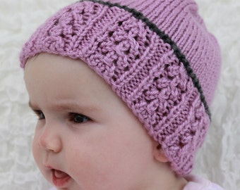 "Instant download ""Arrabella"" knitted ladies  childs beanie knitting pattern, Beanie, Cap HK20"