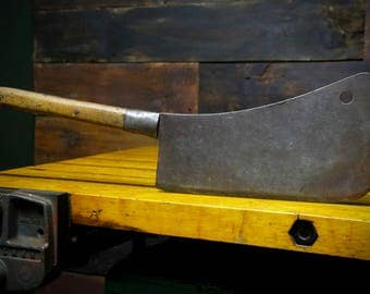 Antique Meat Cleaver Etsy