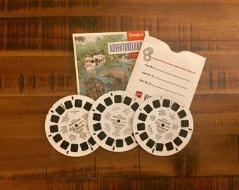 1970's Viewmaster Reels of Adventureland Disneyland/ 3 Reels/ Sawyers