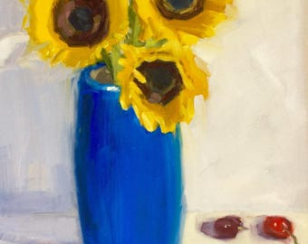 Pops of Sun- Original Oil Painting on 16 x12 inch Canvas