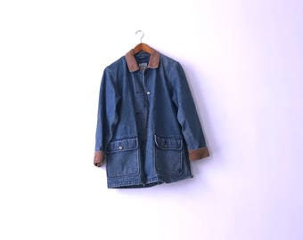 Corduroy Collar 90s Denim Jacket - S