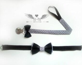 Pacifier clip, Binky Clip, Fabric Pacifier Clip, Soother Clip, Bow tie, Baby bow tie, Baby bow, Baby wedding bow tie,