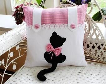 Pillowcase cat kitten pink