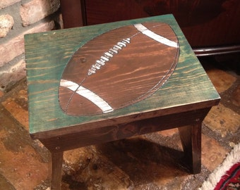 Football Fan Step Stool, Football step stool, Sports fan step stool