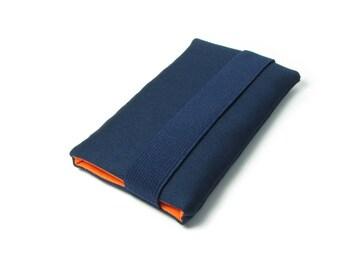 Samsung Galaxy S8+ - Navy Blue, Orange, Fabric, Cotton