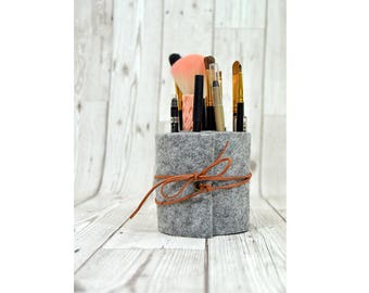 Makeup brush holder, makeup brush organizer, makeup brush roll, makeup organiser, makeup holder,  makeup storage, brush storage