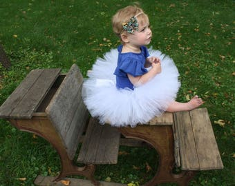 White tutu, angel tutu, baby girl tutu, full tutu, flower girl tutu, wedding tutu, first birthday tutu, cake smash tutu, photography prop